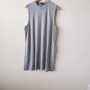 J crew swingy sleeveless grey dress size XL